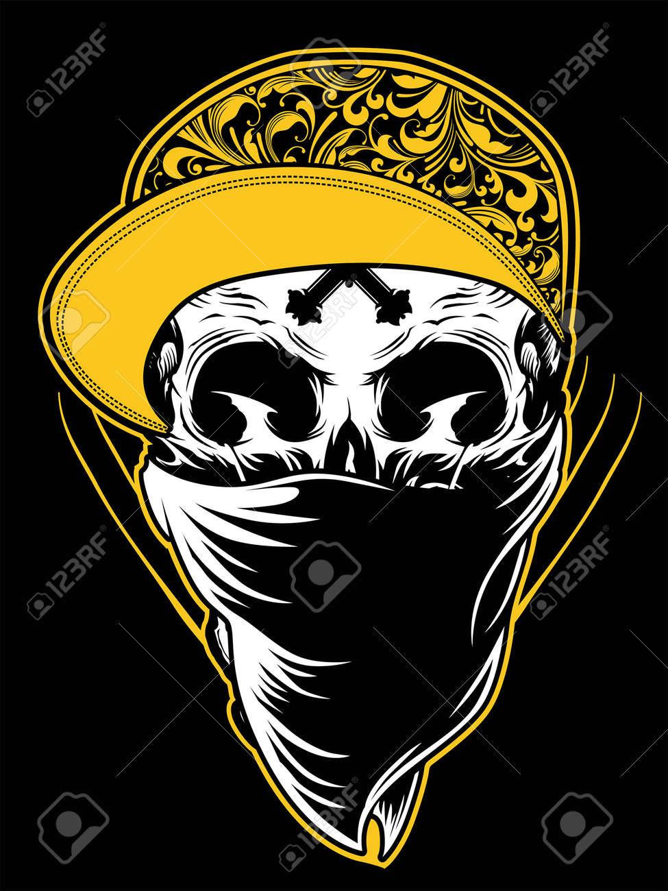 Skull Gangster Illustration Stock Vector - 27444086