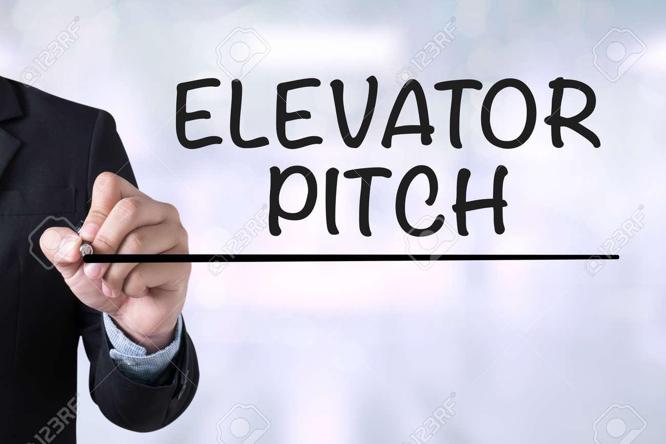 elevator pitch businessman drawing landing page on blurred elevator pitch businessman drawing landing page on blurred abstract background stock photo 55508841