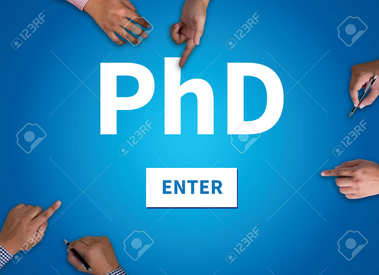 PhD Doctor of Philosophy Degree Education Graduation vintage..