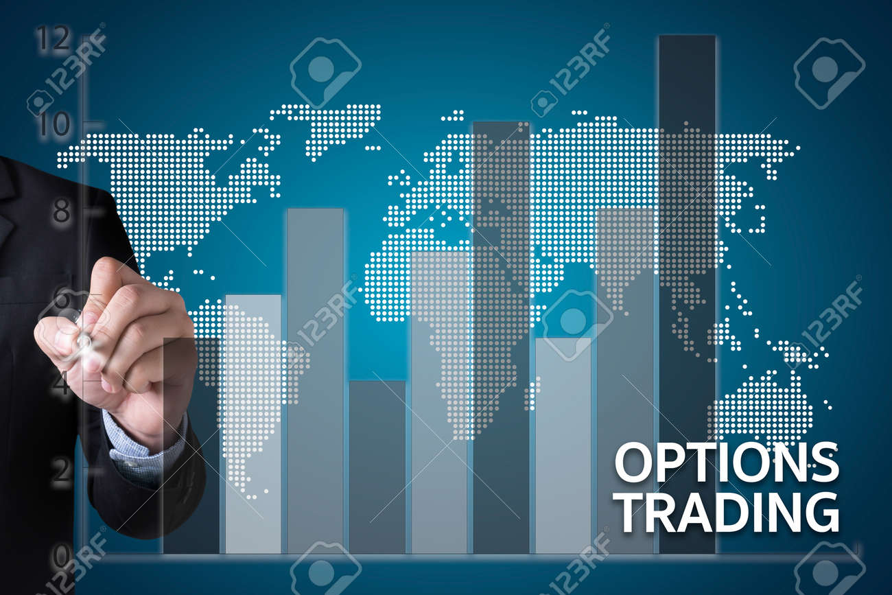 OPTIONS TRADING investment in option trade of trader Business concept - 65328631