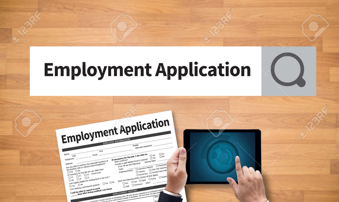 application employment form filling details law personal