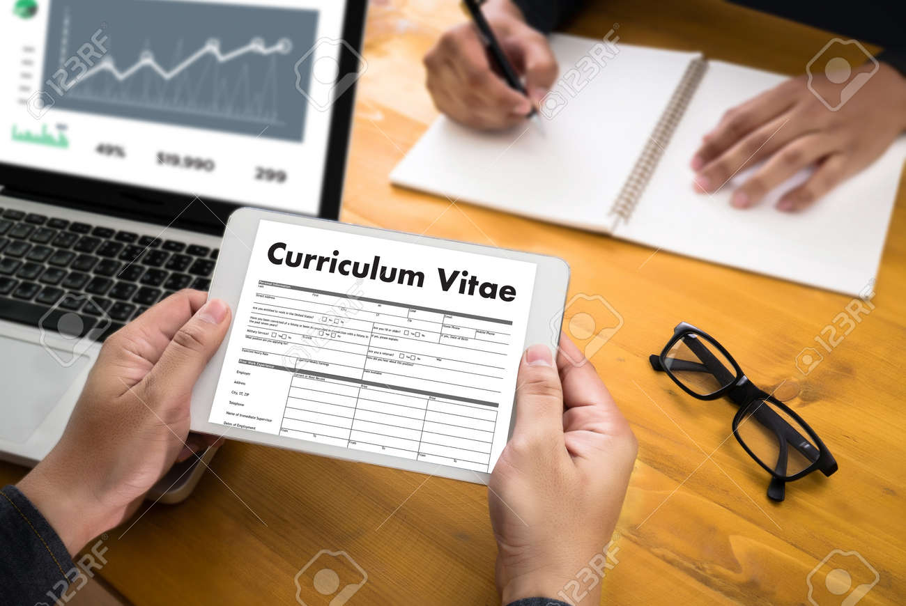 Cv Curriculum Vitae Job Interview Concept With Business Cv