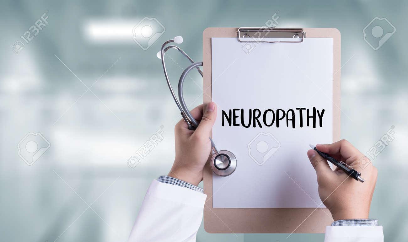 NEUROPATHY Medical Doctor concept , Neuropathy Wording in Anamnesis. - 71880593