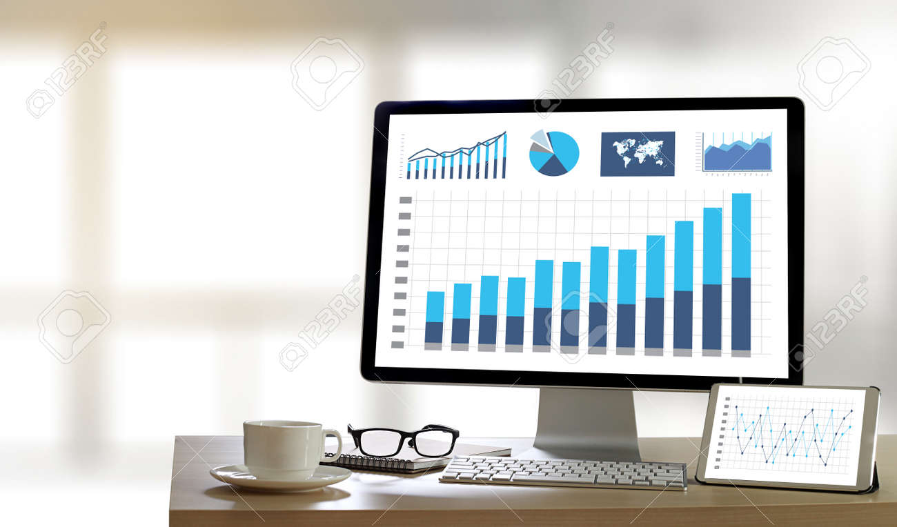 Business Information Technology People Work Hard Data Analytics Statistics Stock Photo