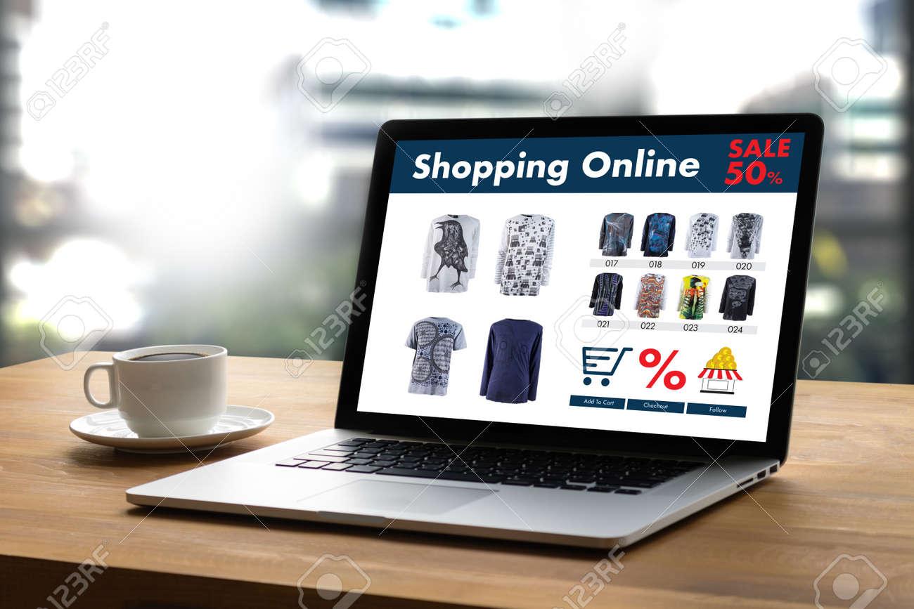 Online Shopping Add to Cart Online Order Store buy Sale Digital Online ecommerce Marketing - 83175613
