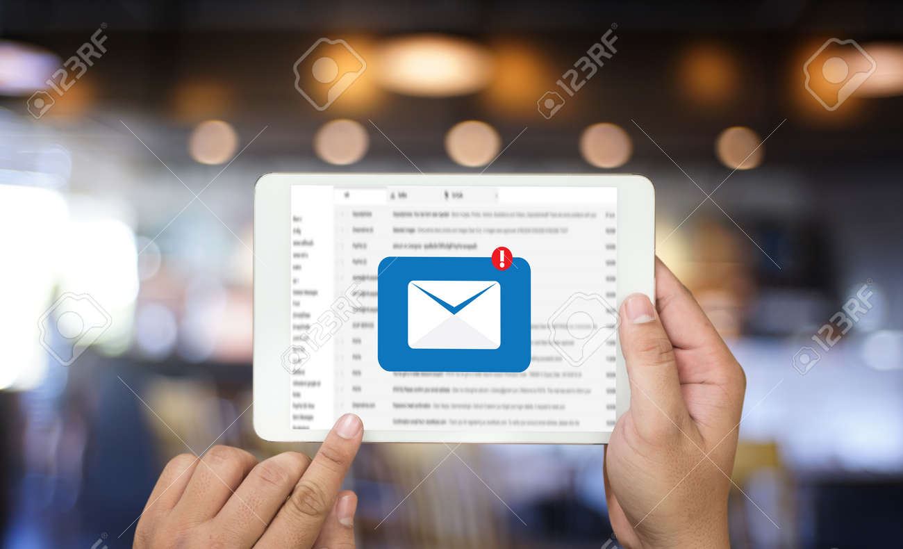 Mail Communication Connection message to mailing contacts phone Global Letters Concept - 95992481