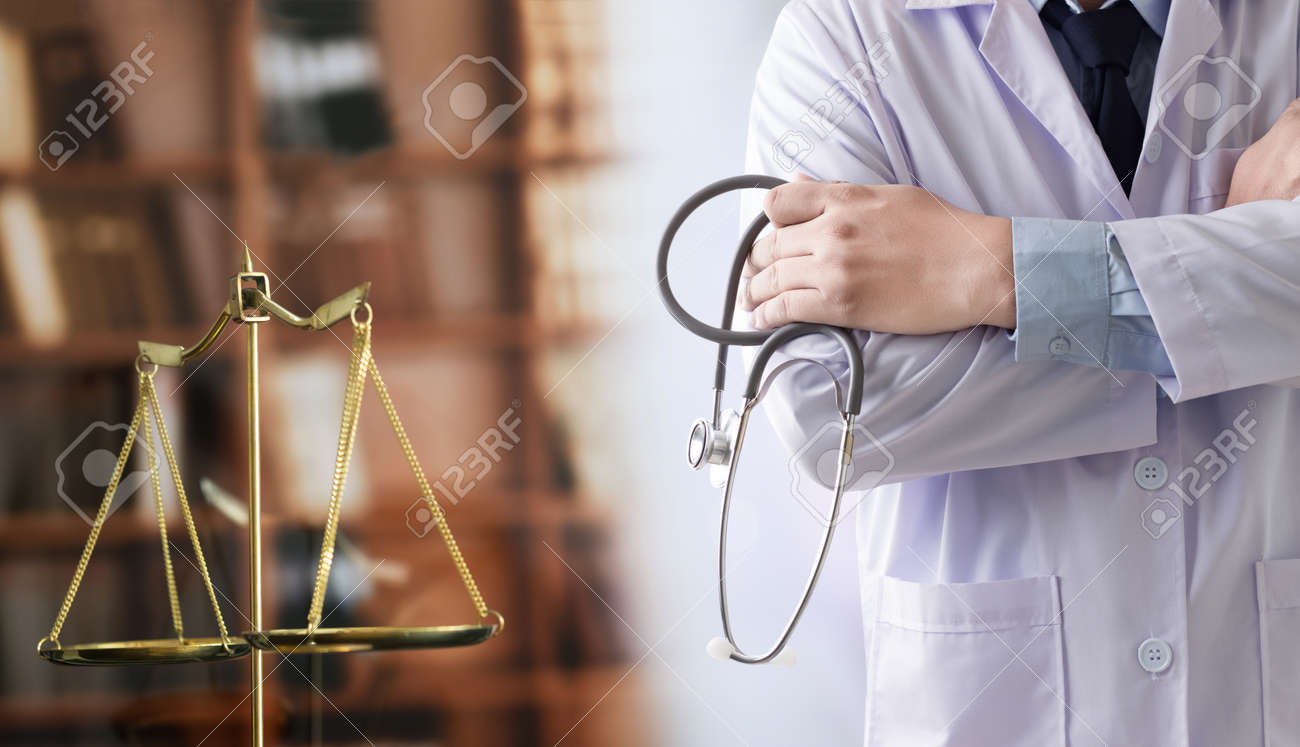 law concept Judge law medical Pharmacy compliance Health care business rules. - 97942552