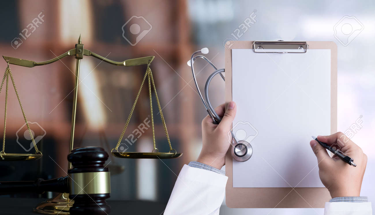 law concept Judge law medical Pharmacy compliance Health care business rules. - 103179792