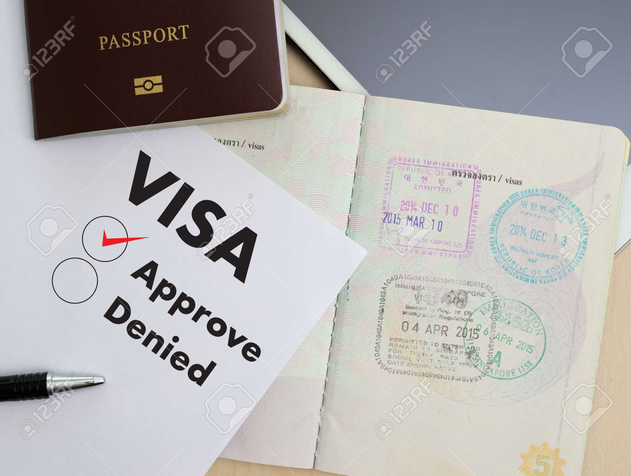 visa application form to travel immigration a document money stock