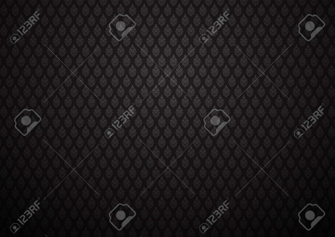 Dunkle Tapete Für Hintergrund Barocker Stil Lizenzfreie Fotos