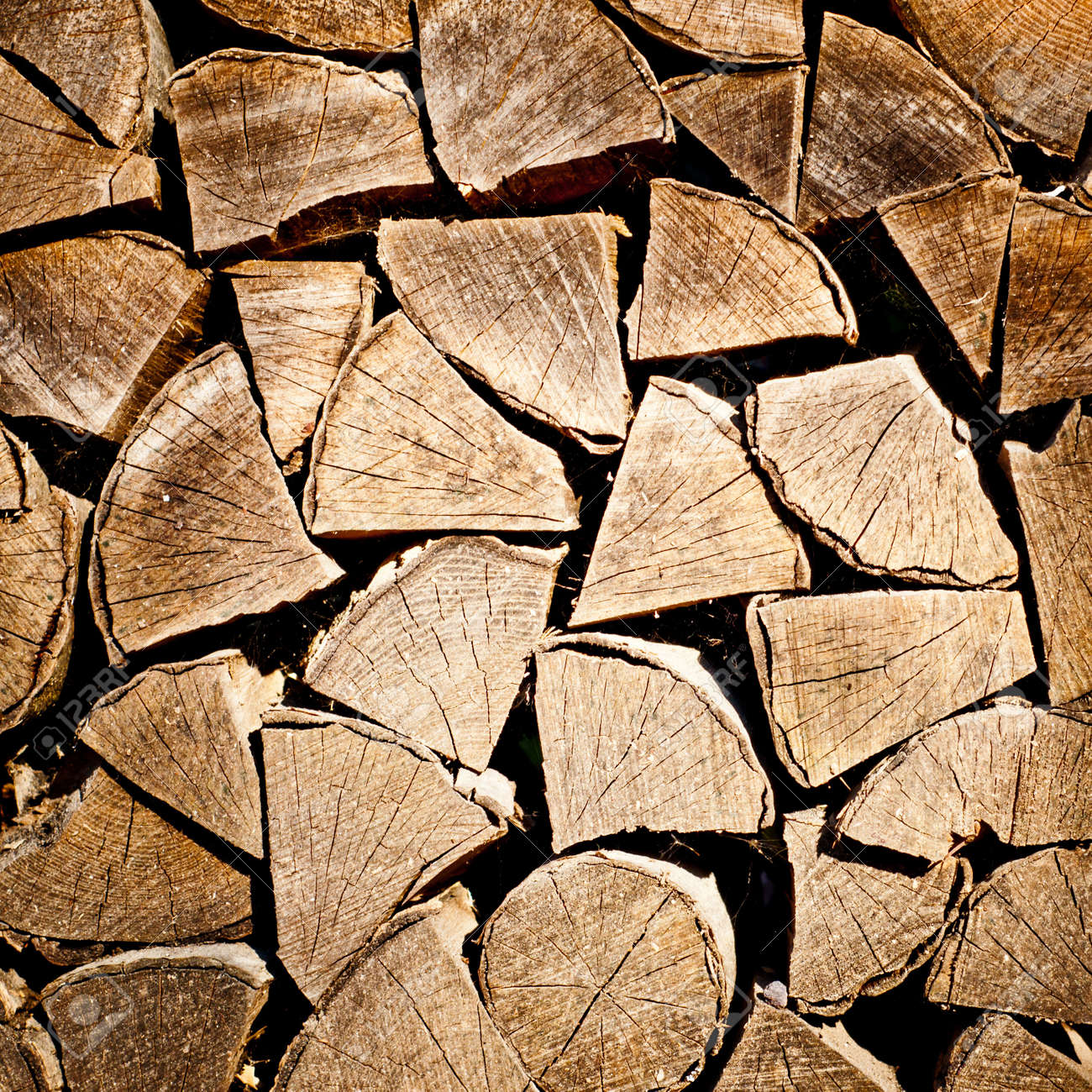 fire wood background texture. closeup of chopped fire wood stack Stock Photo - 17924919