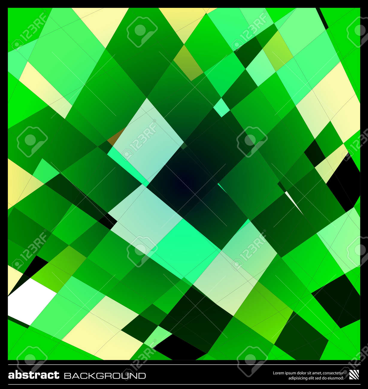 Abstract Emerald Green Geometric Background Modern Design Vector – Emerald Flyer Template