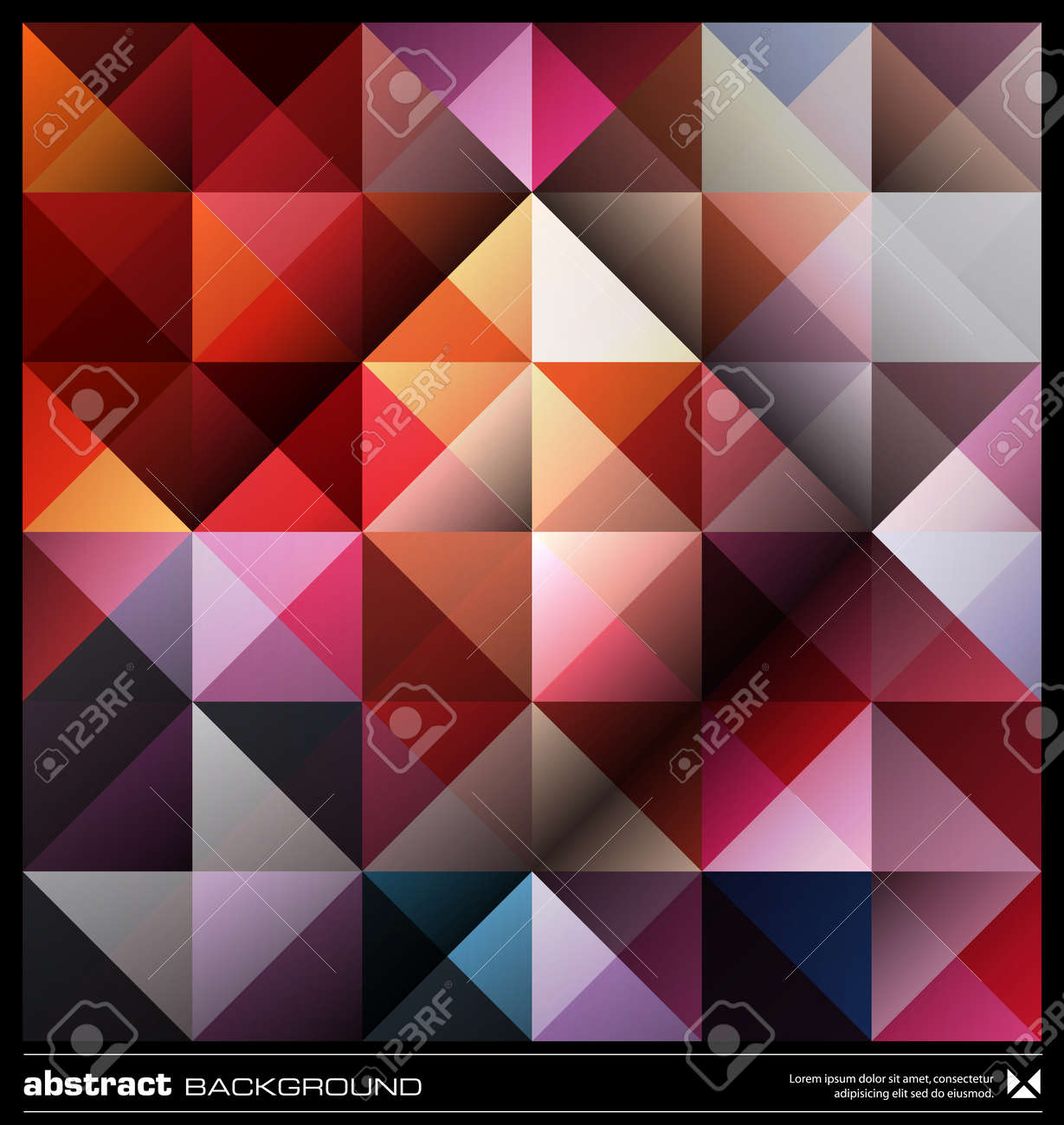 Triangles  background design. Colorful pattern. Abstract modern mosaic seamless pattern. Retro poster, card,flyer or cover template. Stock Vector - 19579182