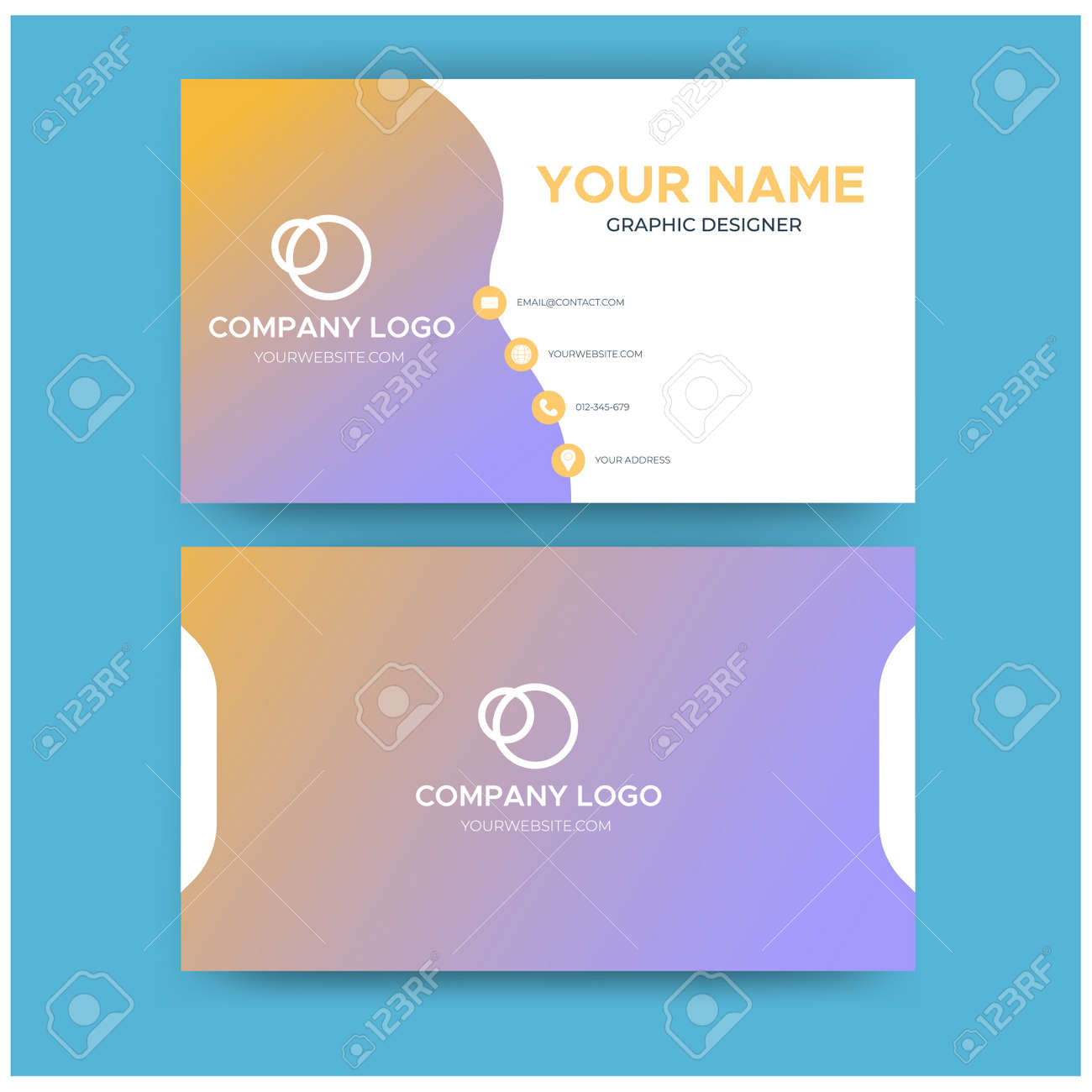 Minimalist Business Card Template from previews.123rf.com