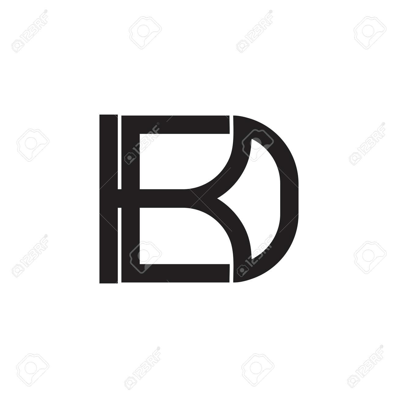 letter kd linked geometric line logo - 119346814