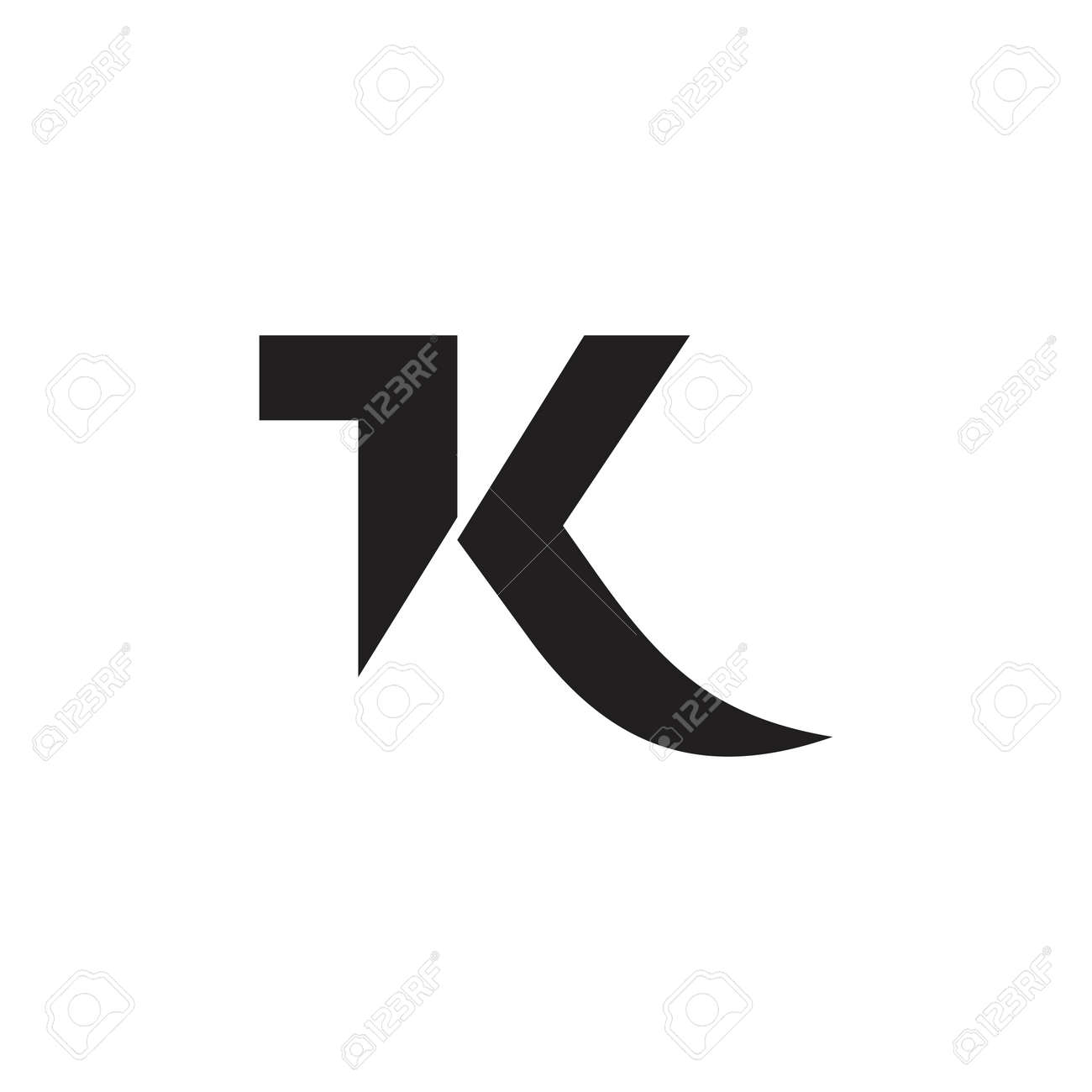 letters 1k simple geometric vector - 119517370