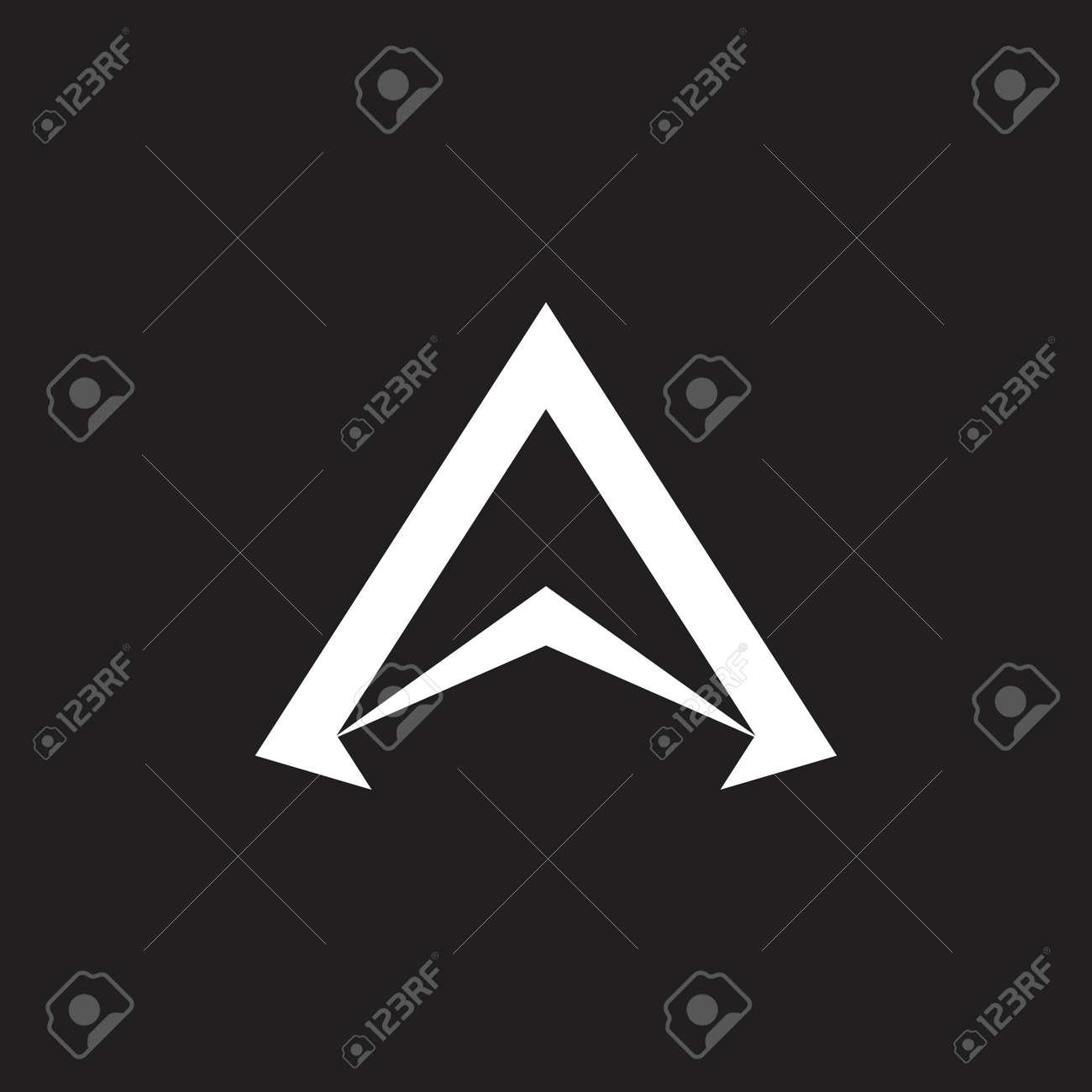letter a simple arrow geometric logo vector - 122017458
