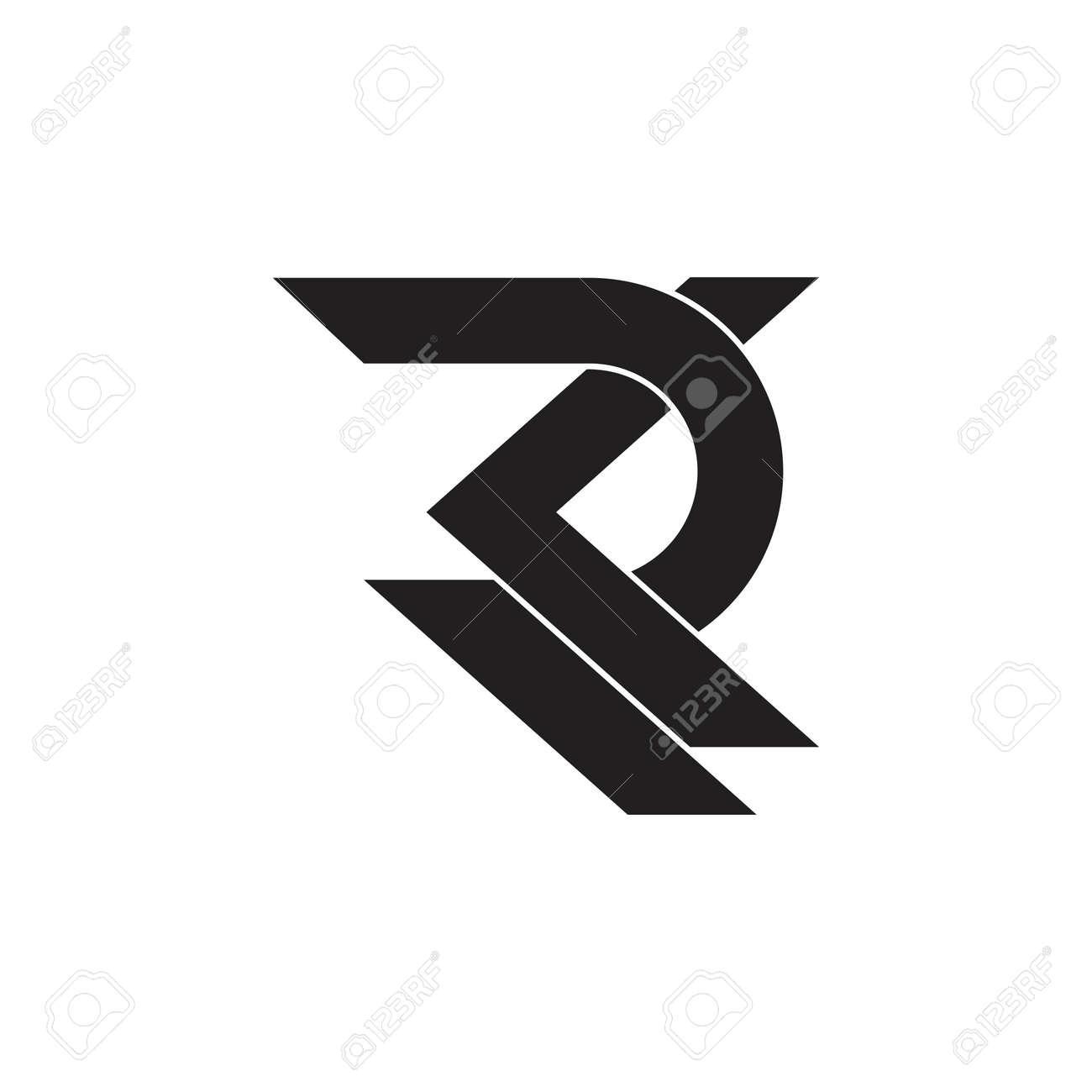 letter rk overlapping geometric logo vector - 128202529