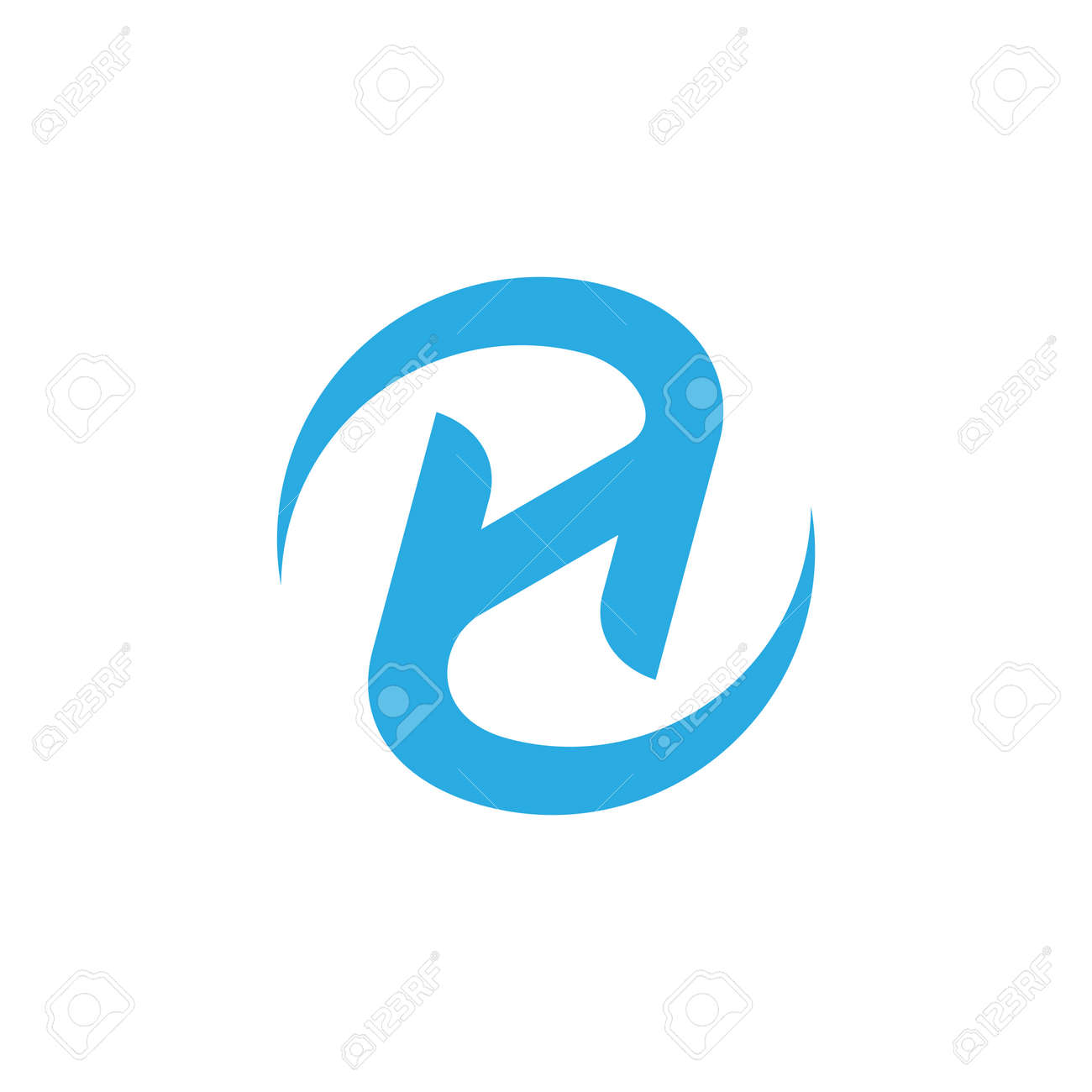 letter zh rotate motion logo vector - 141833637