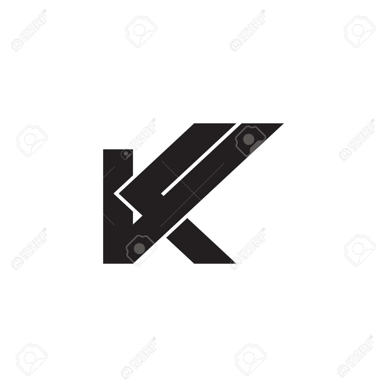 letter k check mark geometric logo vector - 149054259