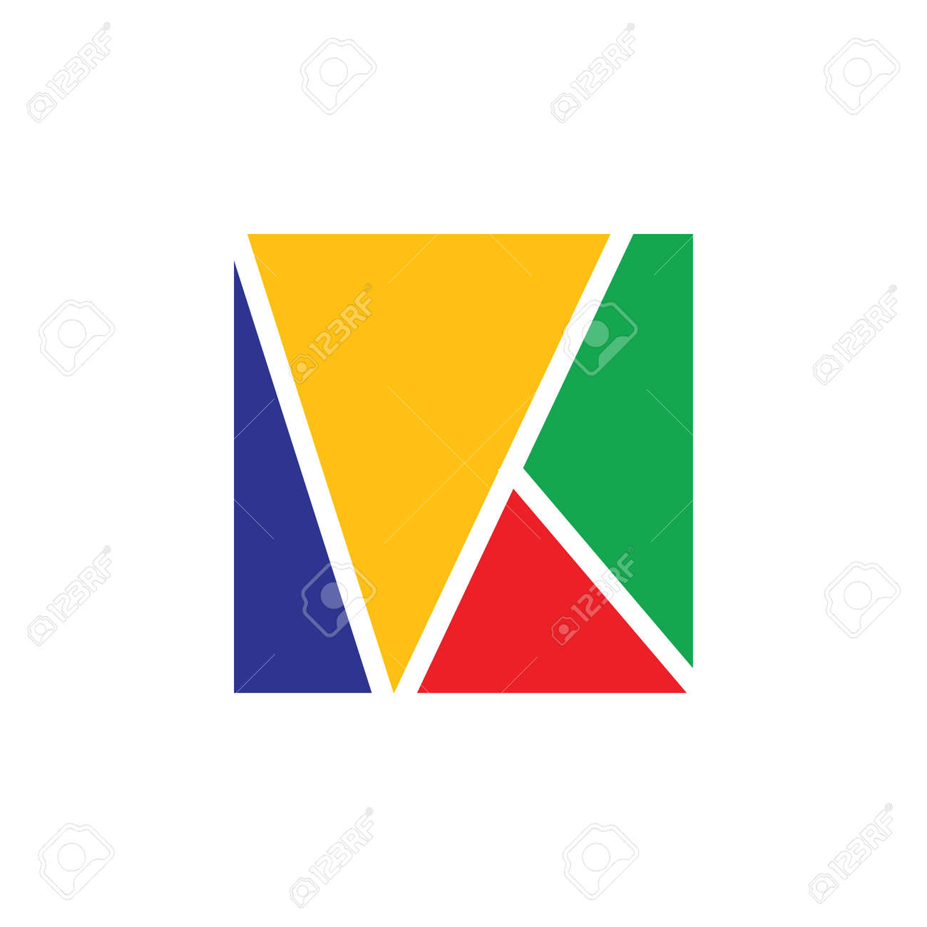 abstract letter vk square colorful logo - 151955535
