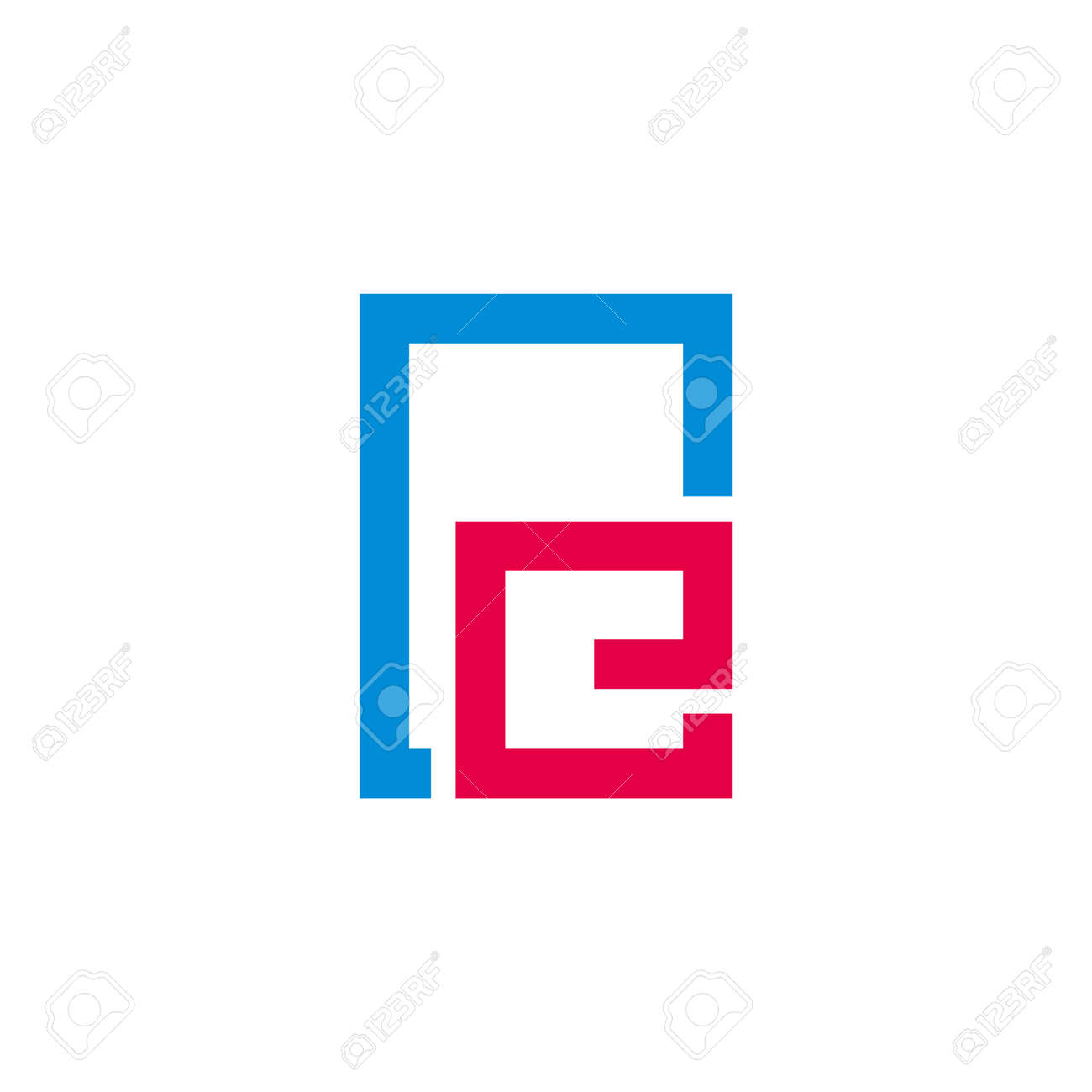 abstract letter re simple frame symbol logo vector - 152374989