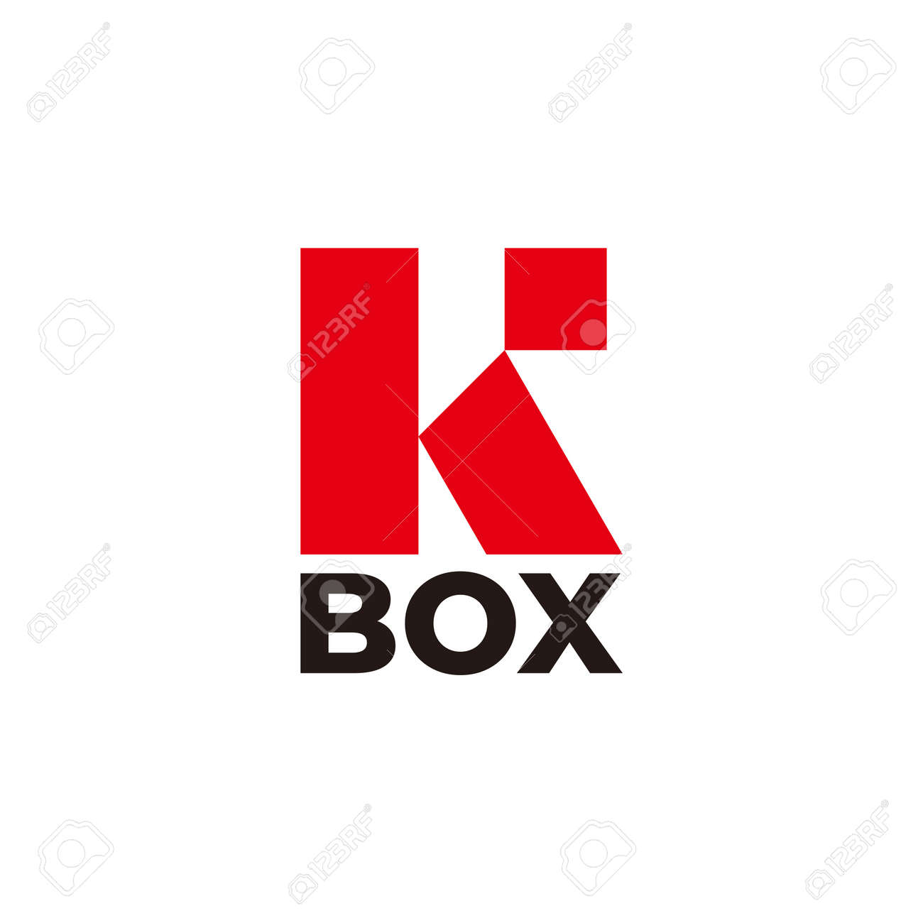 vector of letter r square box simple flat geometric - 160894896