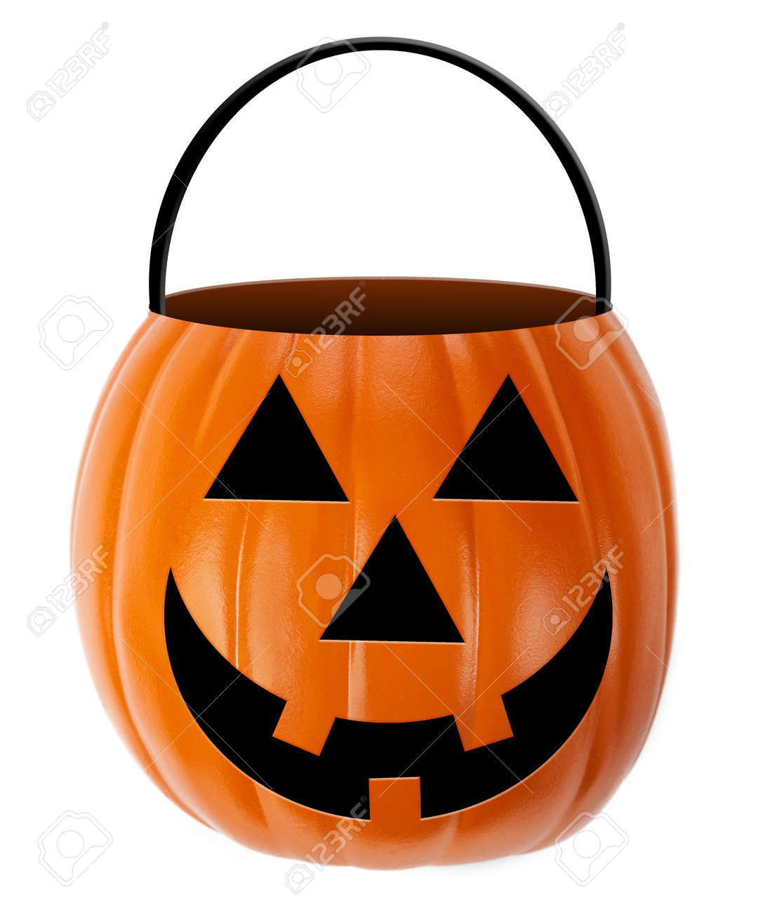halloween jack-o-lantern candy holder stock photo, picture and
