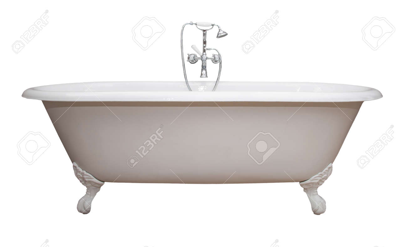 Beautiful Classic Style White Claw Foot Bathtub With Stainless ...