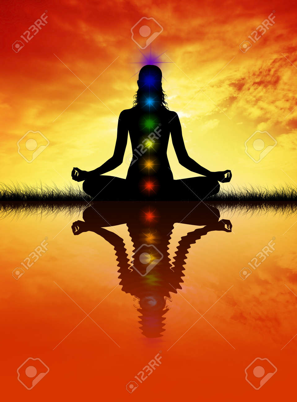 Seven Chakras Stock Photo - 19112820