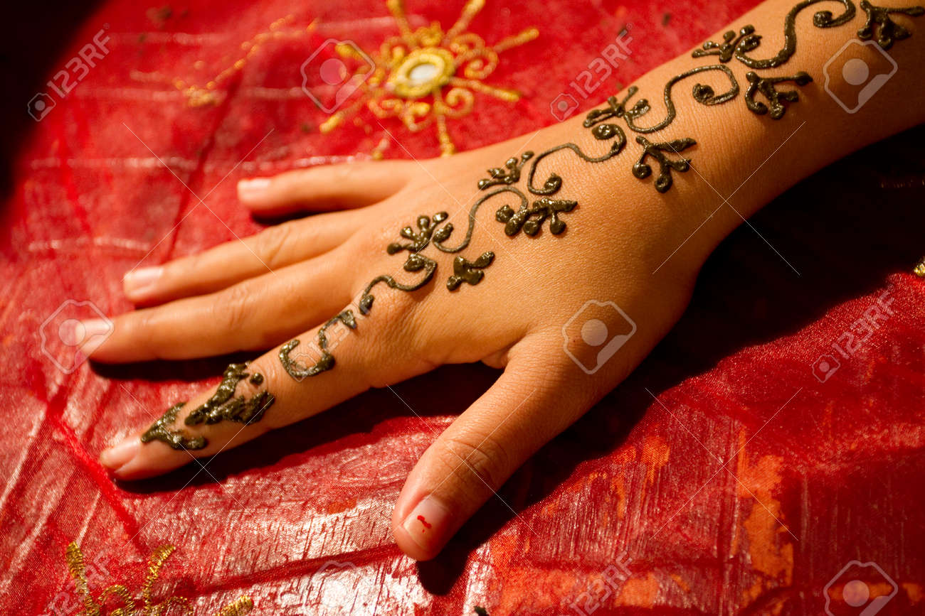 Traditional henna tattoo