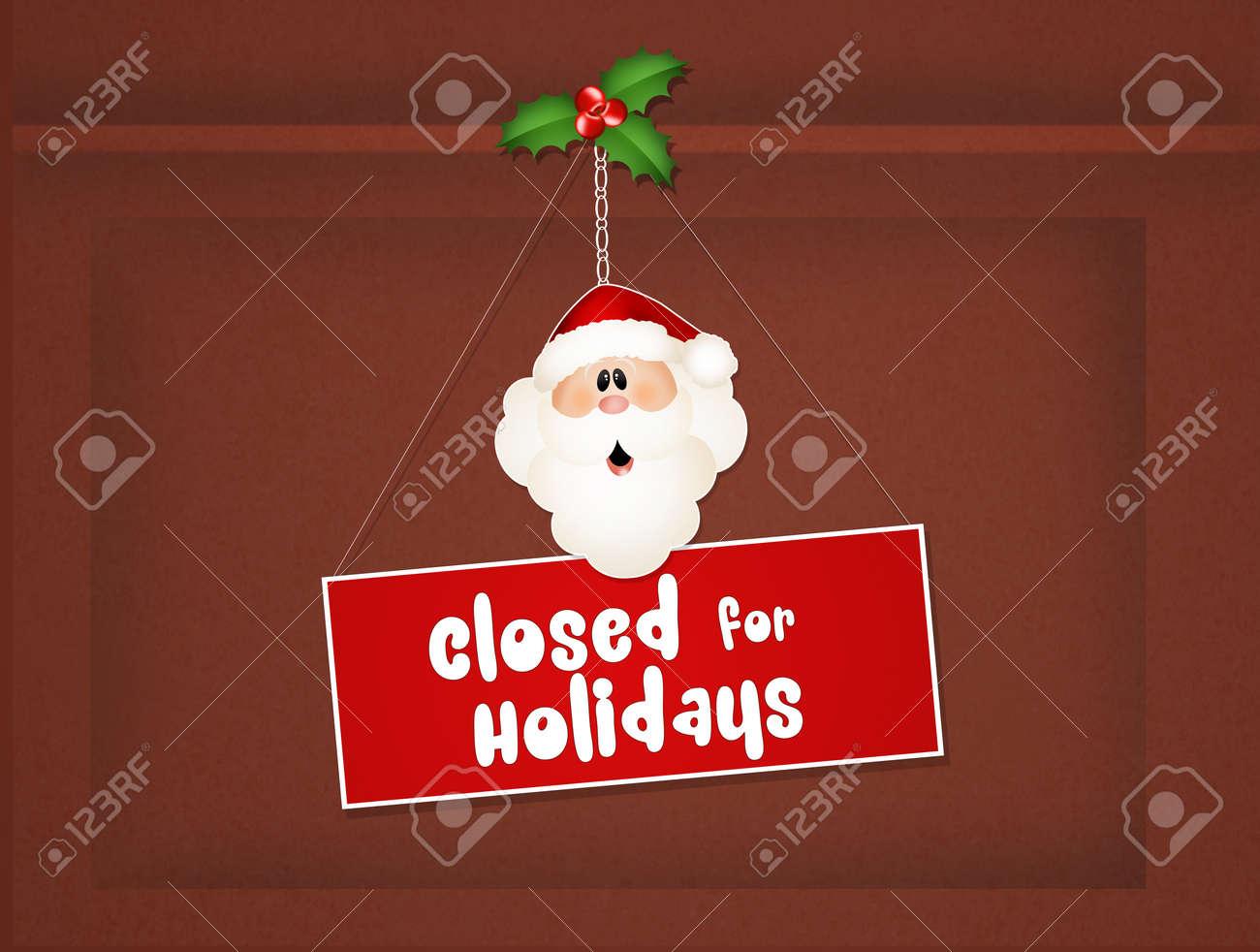 Closed For Christmas.Closed For Christmas Holidays