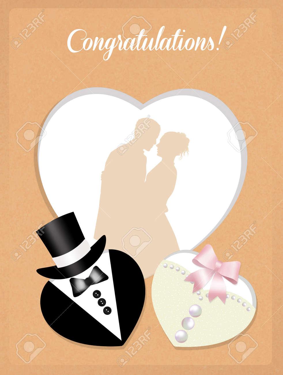 Herzlichen Gluckwunsch Zur Hochzeit Lizenzfreie Fotos Bilder Und