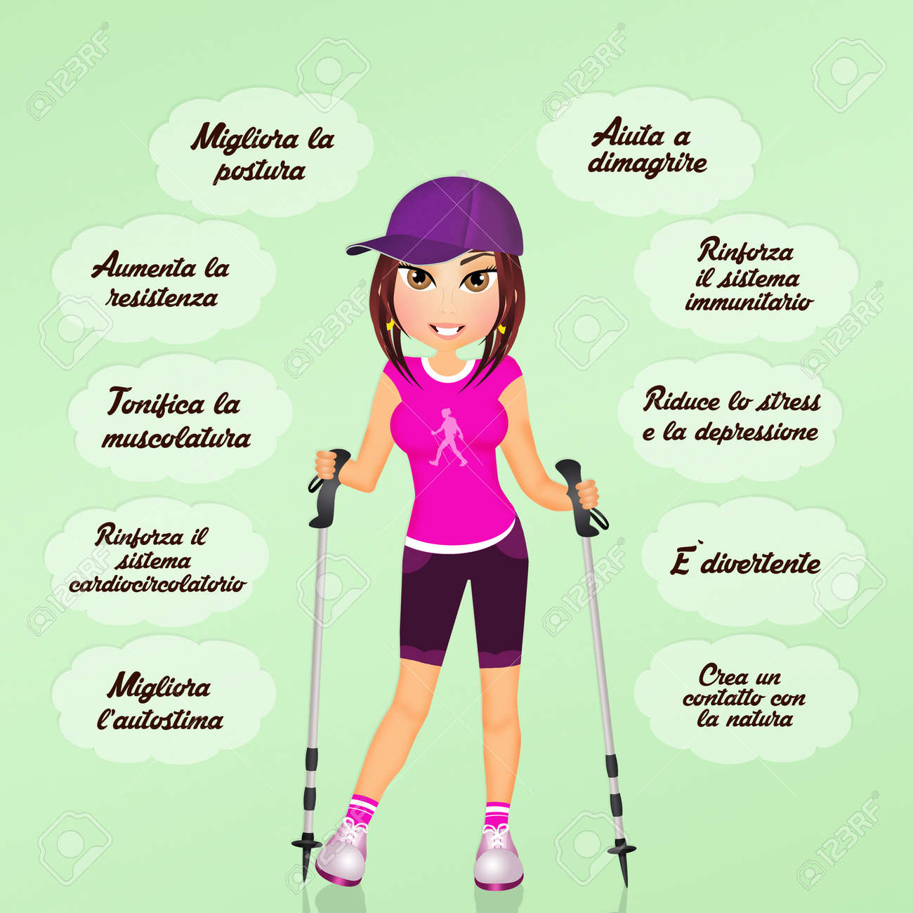 Benefits Of Nordic Walking Stock Photo Picture And Royalty Free