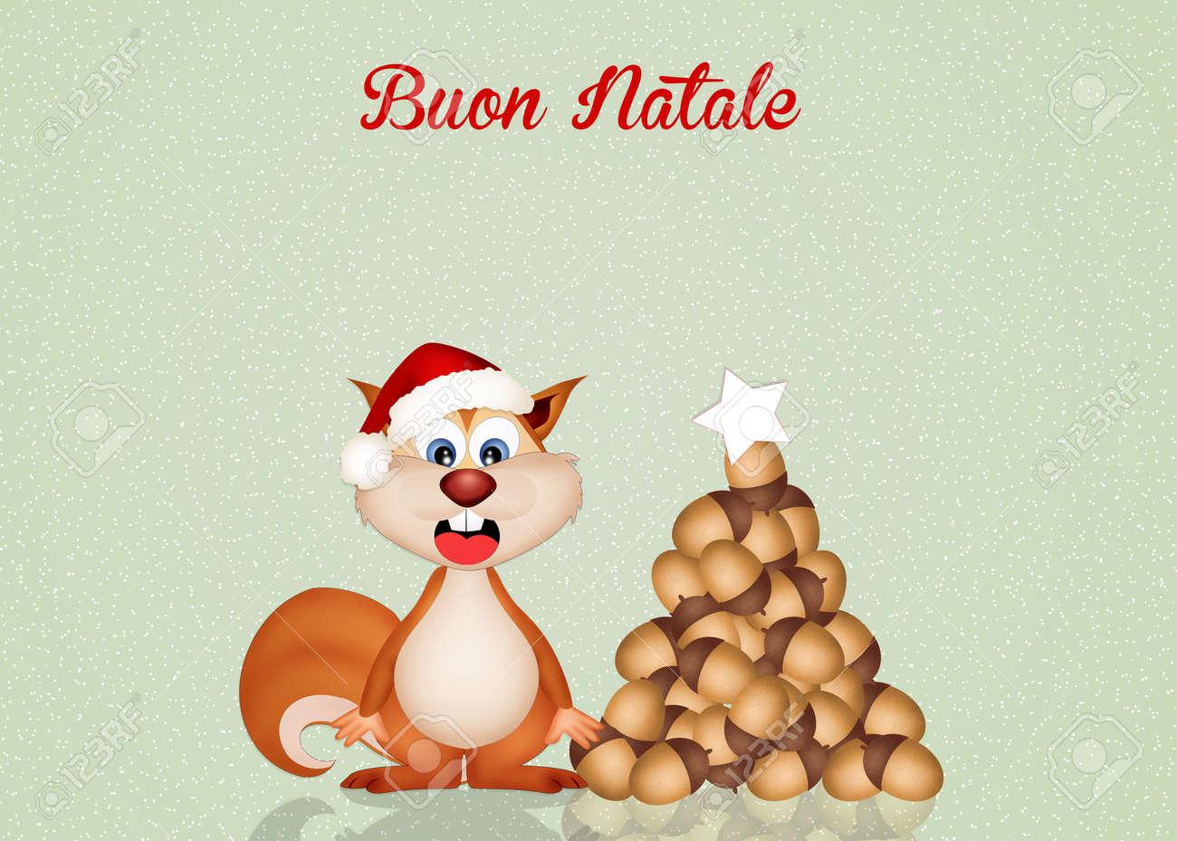 Lustiges Eichhörnchen Bei Weihnachten Lizenzfreie Fotos, Bilder Und ...