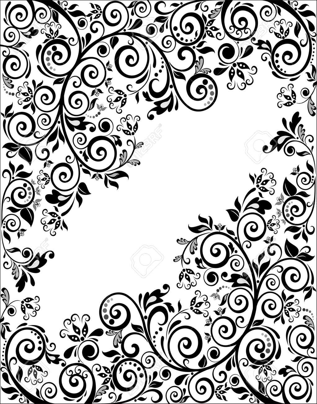 Damask Seamless Floral Pattern Royal Wallpaper Black Flowers