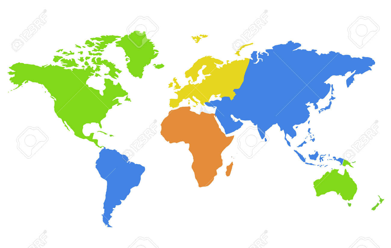 Continents World map Background - 155360818