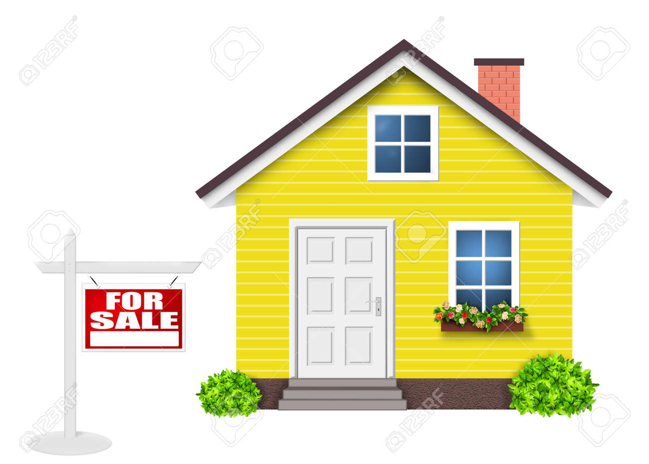 House for sale, Home yellow simple - 155303004