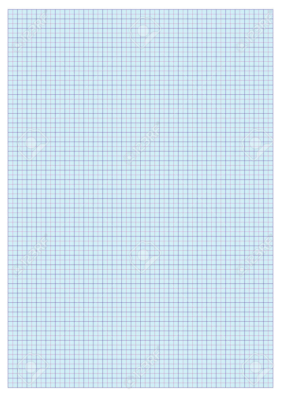 a3 graph paper standard for printing with cm and 5 mm separators stock vector 14038165