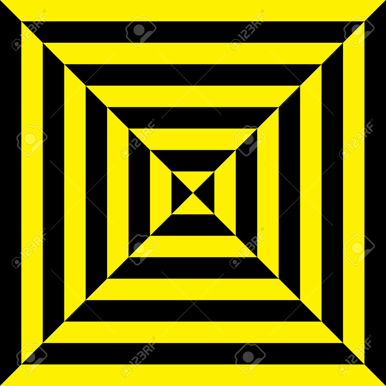Attention yellow on black and black on yellow tile Stock Vector - 18197601