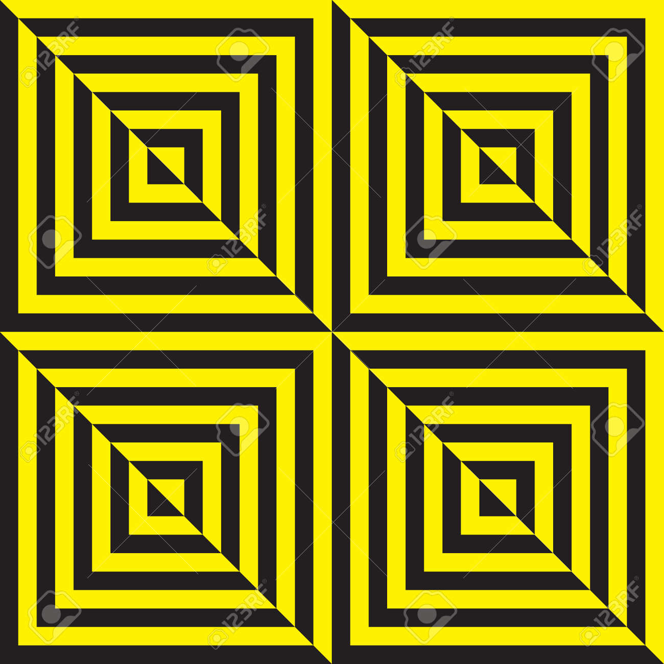 Yellow on black and black on yellow abstract zig zag Stock Vector - 18197636
