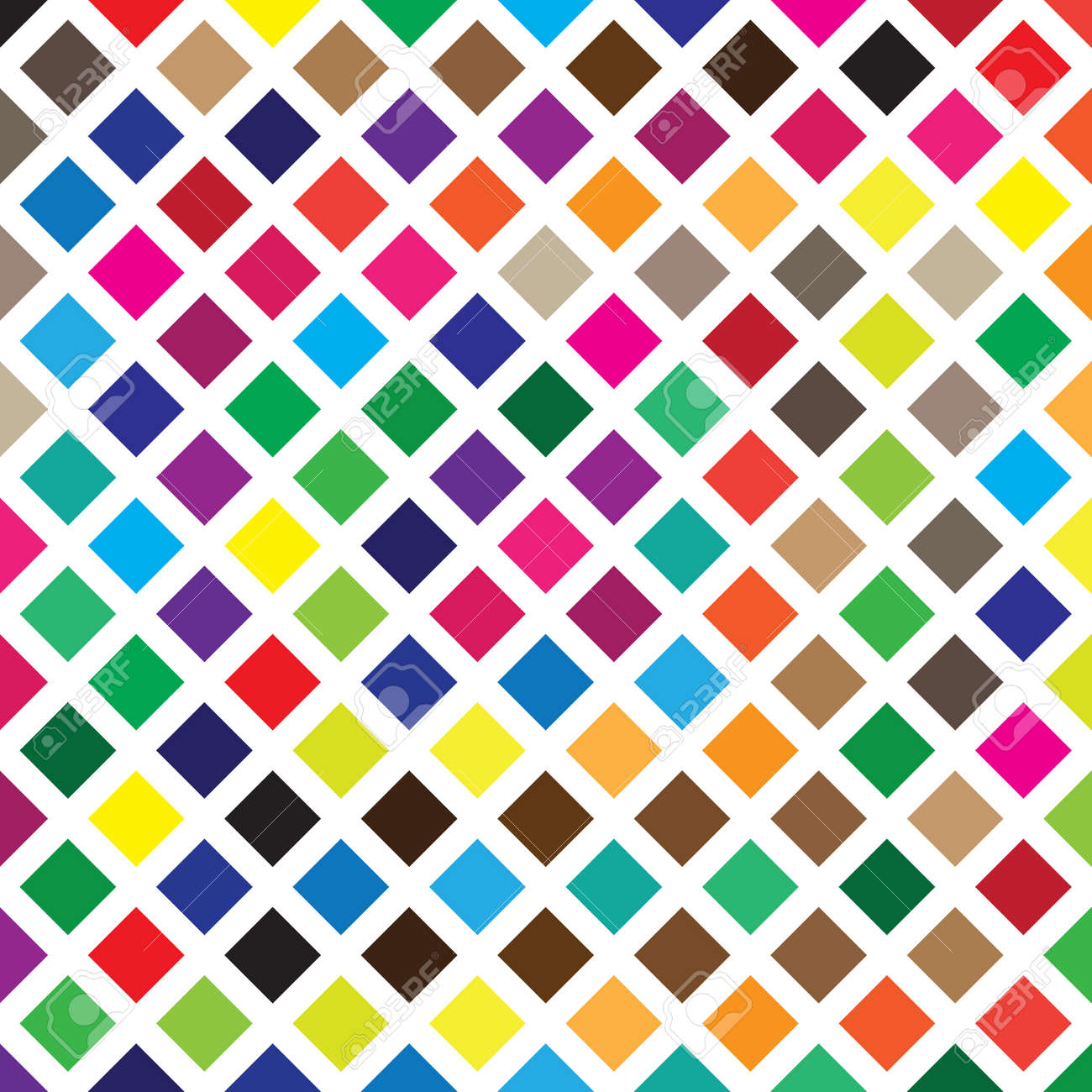 Color Swatches Diamond squares vall Stock Vector - 18500455