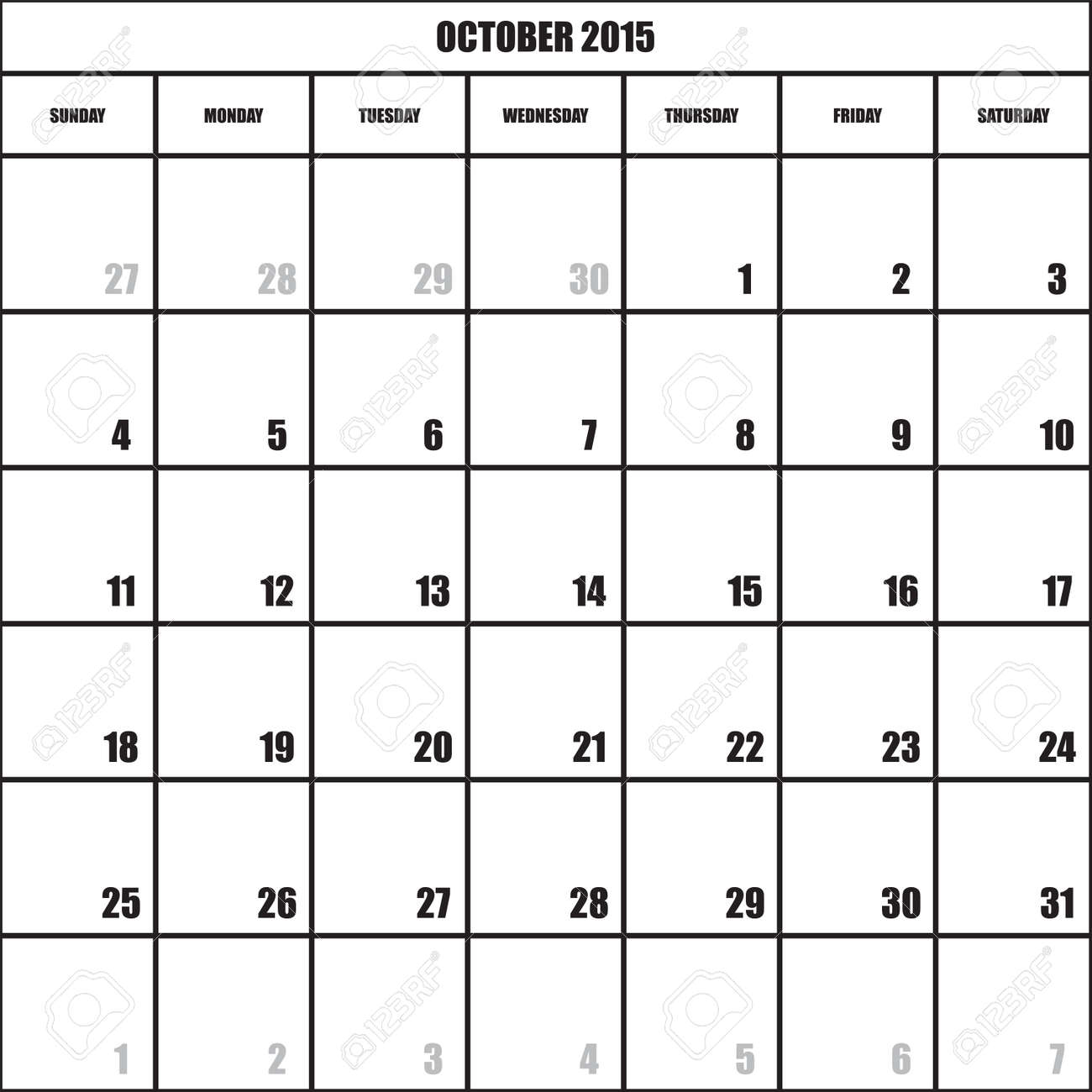 calendar planner 2015