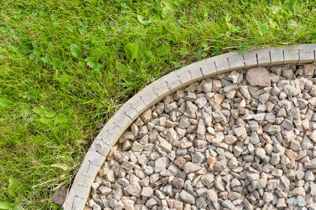 Gravel Garden Path Construction Detail Stock Photo Picture And