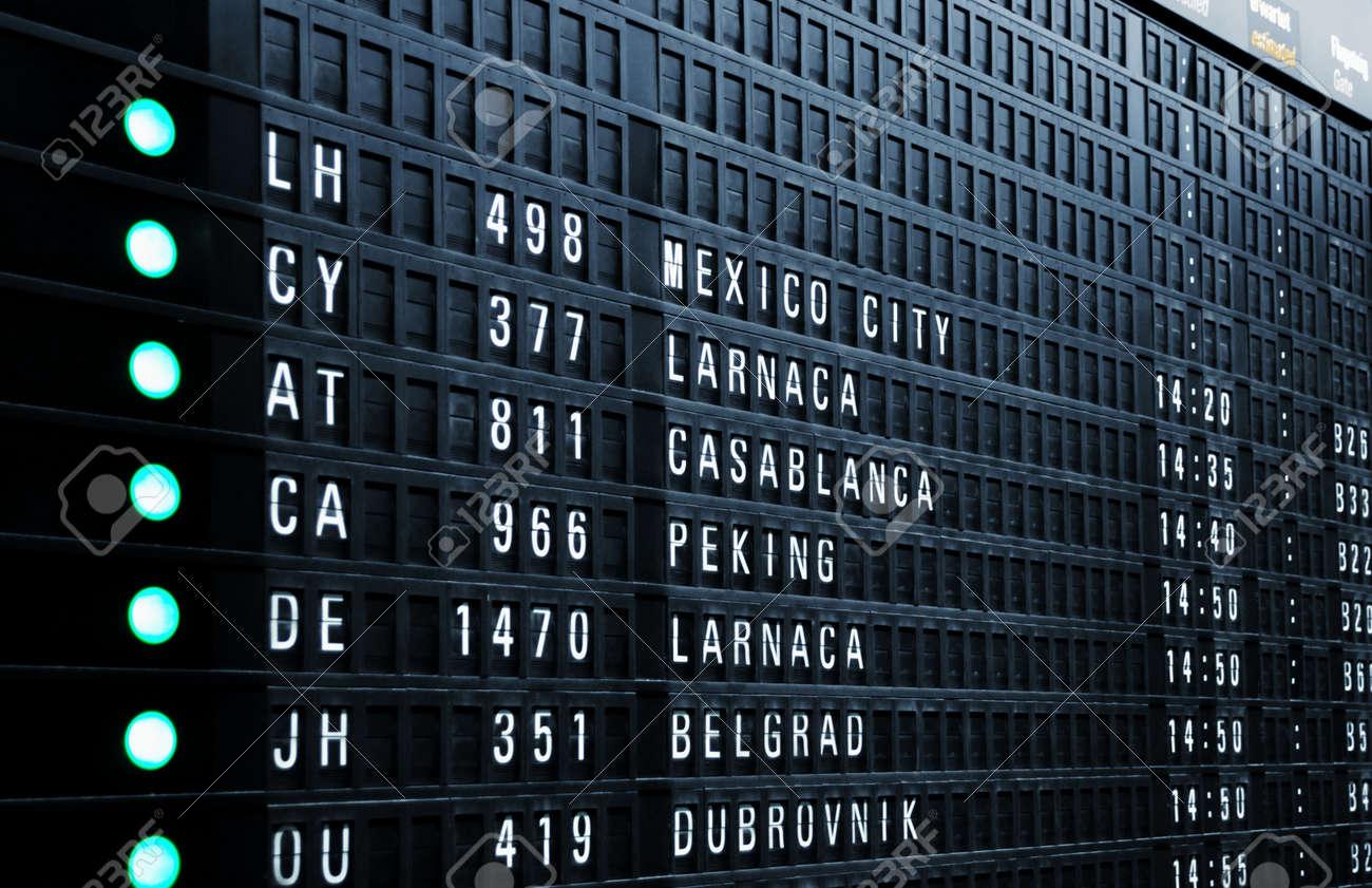 Airport departure board Stock Photo - 17723619