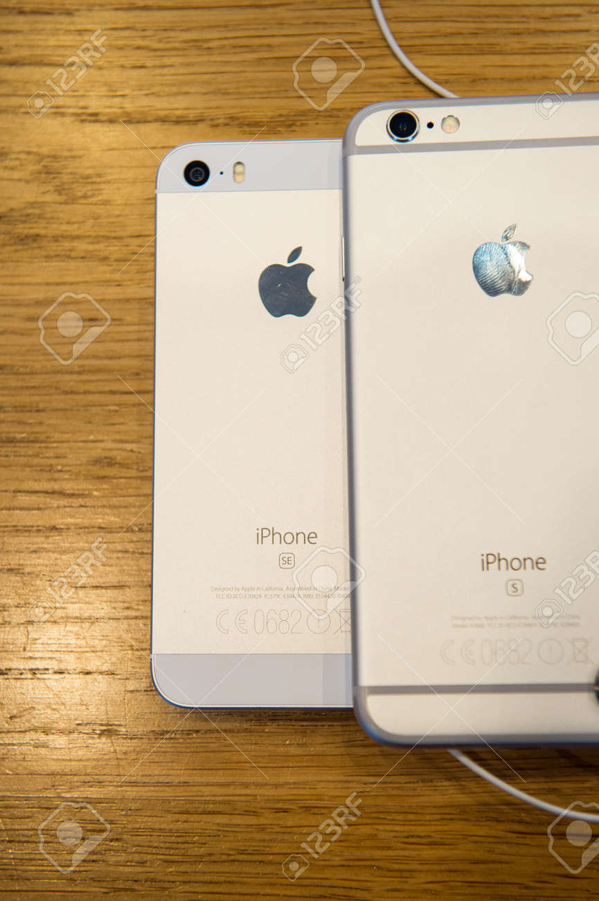 Paris Frankreich 4 April 2016 Iphone 6s Und Das Neue Apple