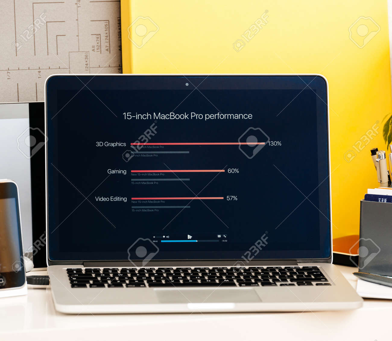 PARIS, FRANCE - OCT 28 2016: Apple Computers website on new MacBook