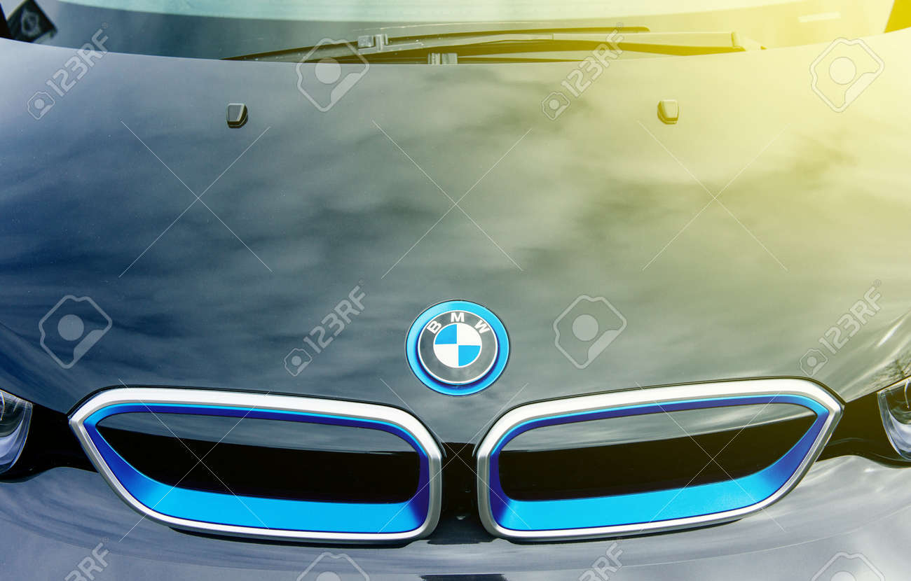 Munchen Germany April 06 2015 Abstract Electric Bmw I3 Front