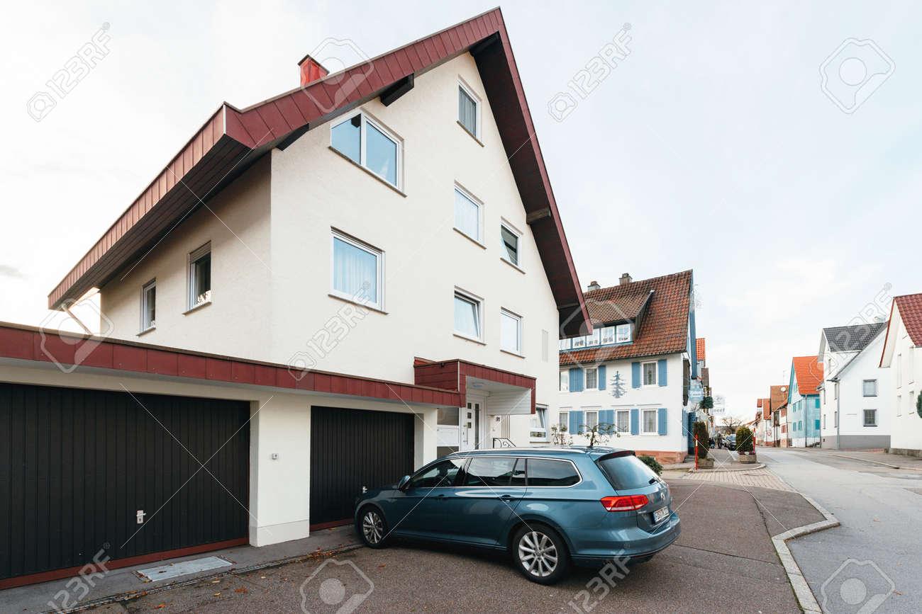 FREUDENSTADT, GERMANY - NOV 20, 2016: Modern Hybrid Volkswagen
