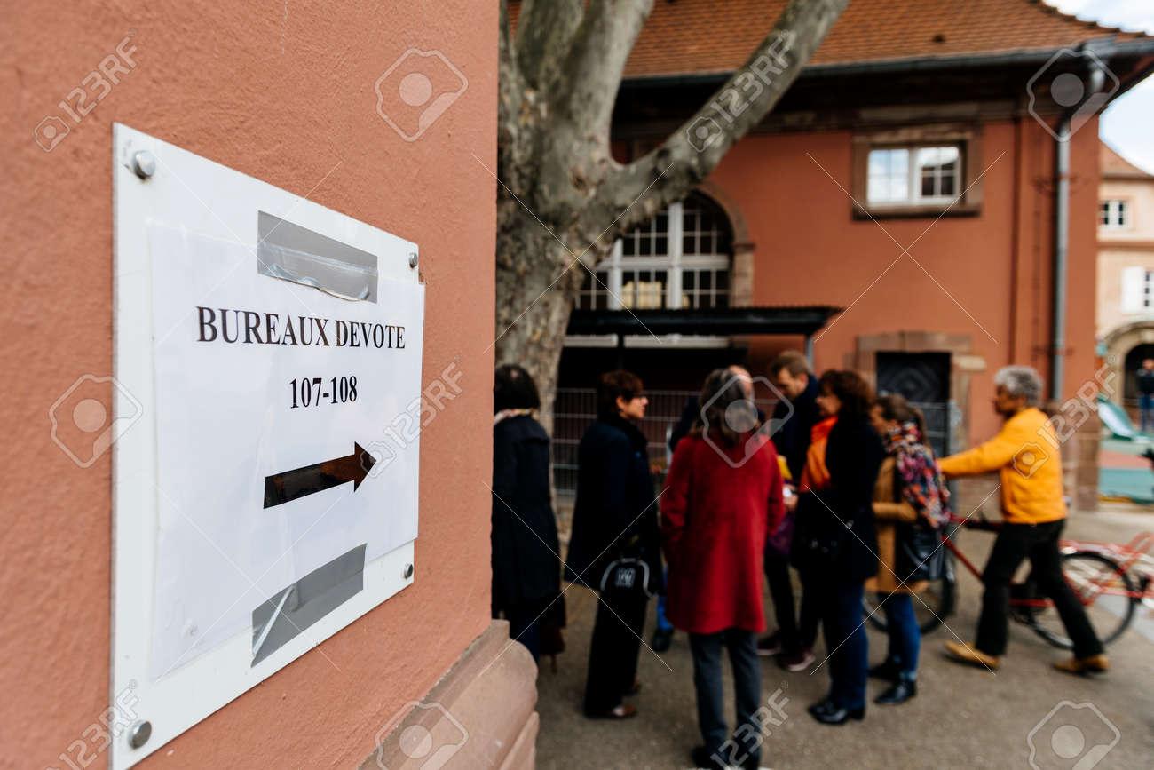 Strasbourg france apr bureaux de vote voting section